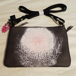 Papayai From the Heart Brown Handbag NEW